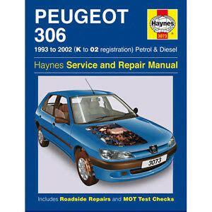 New Haynes Manual Peugeot 306 93 02 Car Workshop Repair
