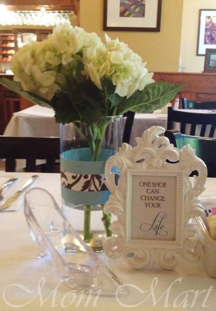 mom mart diy cinderella theme wedding shower centerpieces