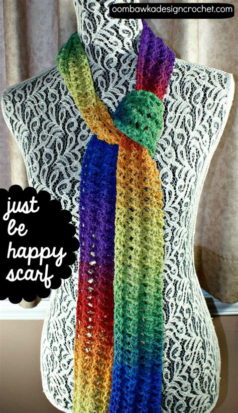 pattern for a fabric shawl just be happy scarf oombawka design crochet