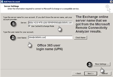 Office 365 Outlook Server Name How To Manually Configure Outlook Office 365 O365info