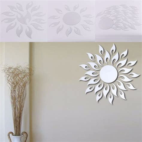 home decor wall posters sun shape acrylic mirror wall posters wall stickers home
