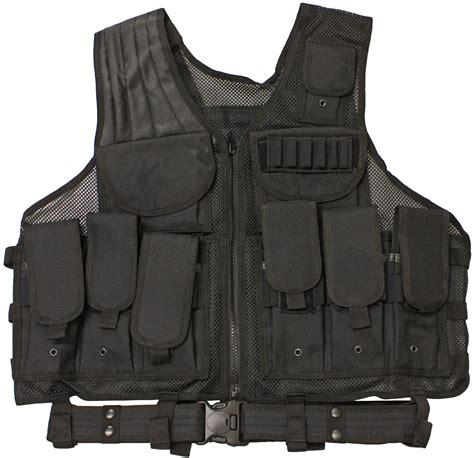 Vest Swat tactical combat assault vest black airsoft swat new