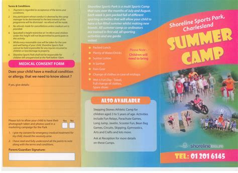 summer c brochure template summer sports c brochures related keywords summer