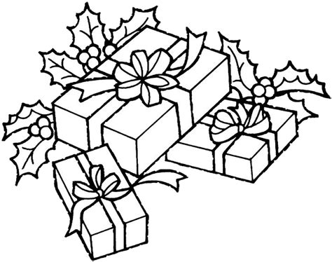 coloring pages of a christmas present christmas gift coloring pages 1 purple kitty