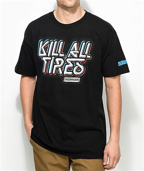 hoonigan kill all tires black t shirt zumiez