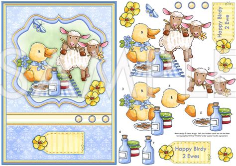 free decoupage downloads happy birdy 2 ewe topper decoupage digital 552ep