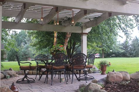 Pendant Lighting Over Kitchen Table - cleveland medina pergola and patio lighting traditional exterior cleveland by outdoor