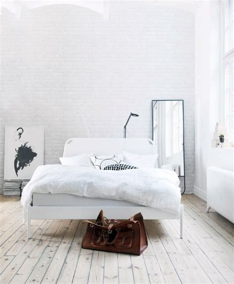 Bedroom Wall White Painting Brick Walls White An Increasingly Popular Trend
