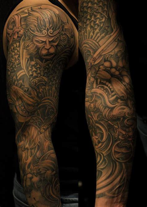 tattoo king chronic ink toronto monkey king and foo