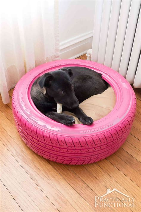 homemade dog beds diy dog bed from a recycled tire