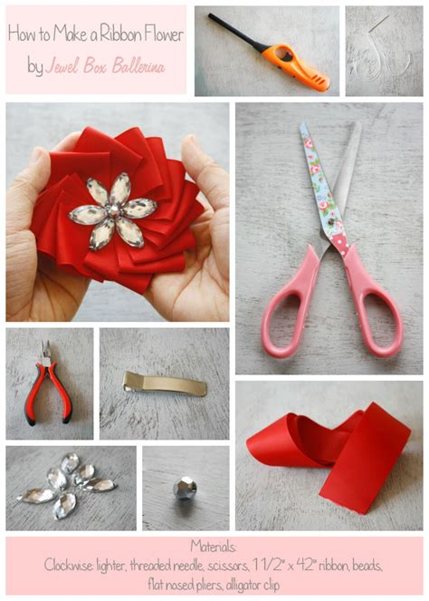Ballerina Medallion Garland free handmade flower tutorial how to make a ribbon medallion