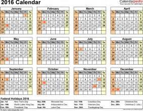 2016 calendar pdf 16 free printable calendar templates