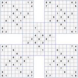 Grid sudoku puzzles