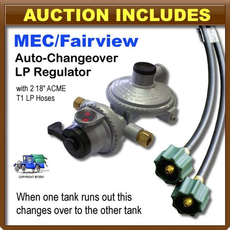 Regulator Win Gas W 18 M sell mec regulator kit 2 stage lp propane gas auto changeover w 2 18 quot acme hoses motorcycle in