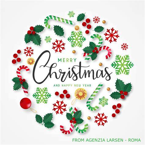 merry christmas happy  year agenzia larsen