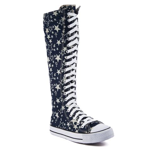 boot sneakers knee high canvas boot shoes casual sneakers
