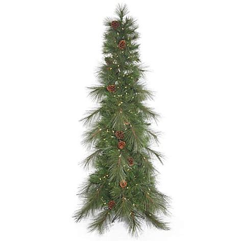 buy vickerman 6 foot cascade pine slim pre lit christmas