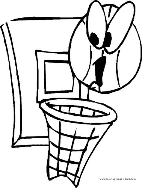 free printable coloring sheet of basketball sport for kids basketball coloring pages for kids