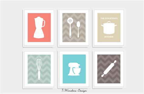 kitchen artwork modern modern kitchen print set utensil appliance silhouettes