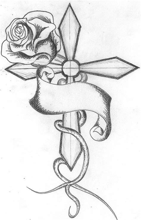 cross tattoos with roses best tattoo design