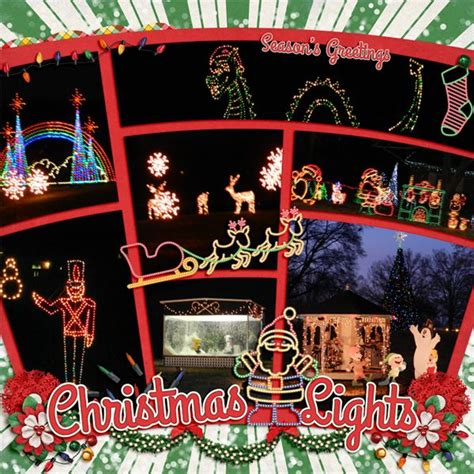 christmas lights digital scrapbooking and scrapbooking on