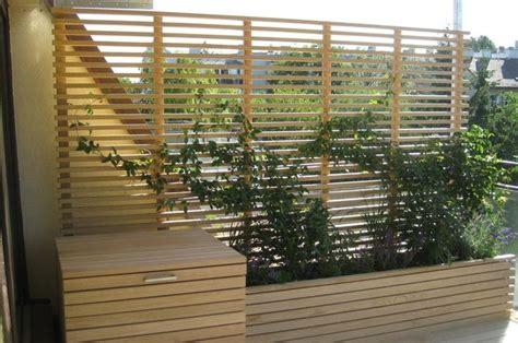 Balkon Zaun Holz by Best Ideas About Balkon Sichtschutz Holz On