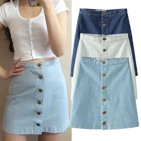 Summer Skrit For Vintage summer 2016 denim skirt high waist mini