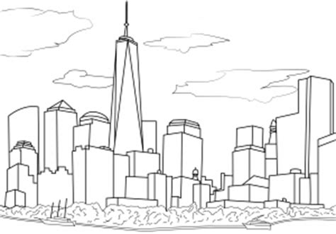 coloring pages of world trade center new york coloring pages for adults