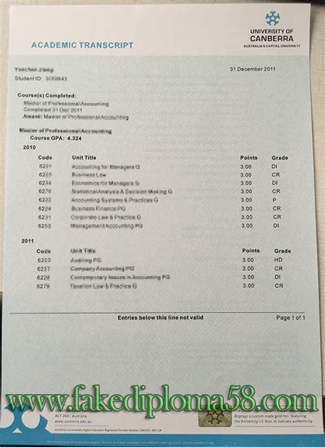 Phd Mba Program Australia by Of Canberra Transcript Buy Degree Buy