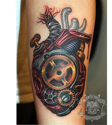 biomechanical heart tattoo 148 biomechanical for geeks