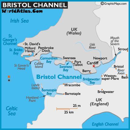 channel map map of bristol channel bristol channel map location world channels world atlas