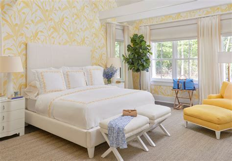 yellow bedroom wallpaper work meg braff