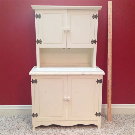 vintage childs hutch china cabinet playhouse furniture