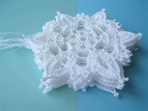 dosymphony 6 crochet snowflake ornaments white christmas