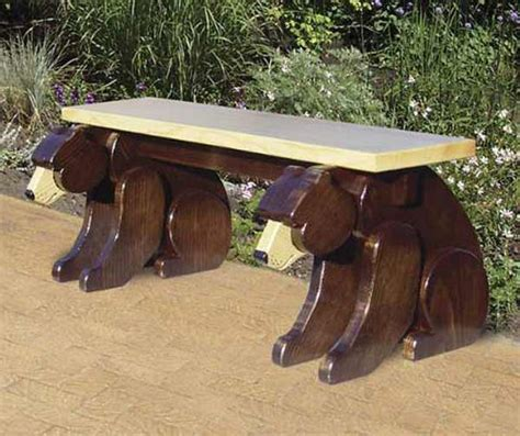 bears bench 19 w3382 black bear bench woodworking plan woodworkersworkshop 174 online store