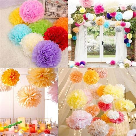 10 Pcs Tissue Paper Poms Flower Ball Wedding Home Party