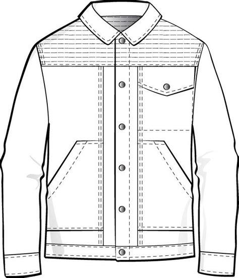 jacket design sketch mens flat fashion sketch clothing design templates
