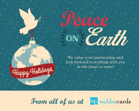 peace  earth international holiday dove globe  animated holiday corporate ecard  email