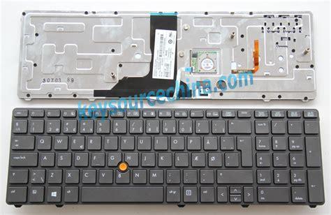 keyboard layout danish backlit hp elitebook 8760w 8770w mobil workstation dansk