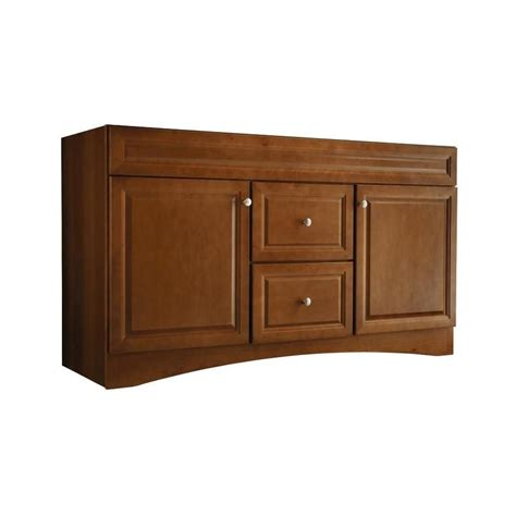 allen roth bathroom cabinets allen roth 20e vsdb60 60 in cinnamon northrup