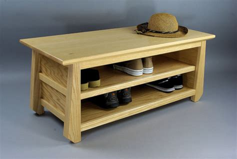 japanese tansu style shoe storage bench by woodistry