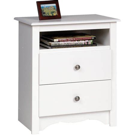 Height Of Nightstand by Prepac Monterey Collection 2 Drawer Nightstand White