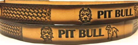 pit made in usa pit bull embossed leather belt leather belts usa