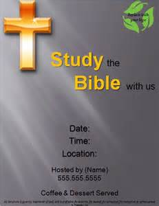 bible study template free bible study flyer templates