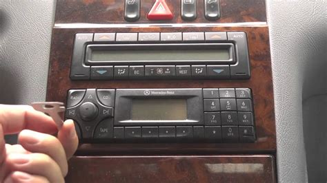 Mercedes Stereo Code by How To Remove Radio Mercedes