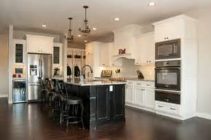 Off White Painted Kitchen Cabinets maple painted off white black schmidt custom cabinetry