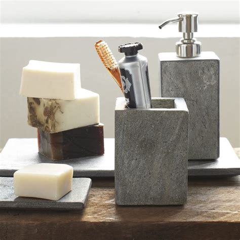 Bathroom Spa Accessories Slate Bath Accessories Modern Bathroom Accessories By West Elm