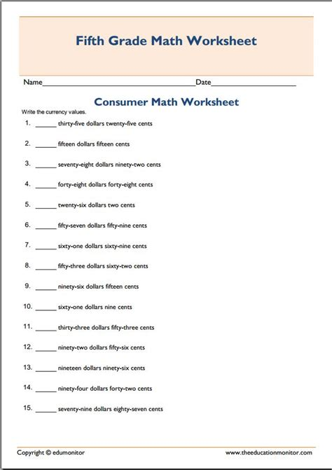 printable math worksheets high school free consumer math worksheets for high school free