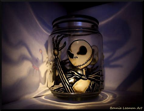 nightmare before arts and crafts skellington candle holder by bonniemarie on