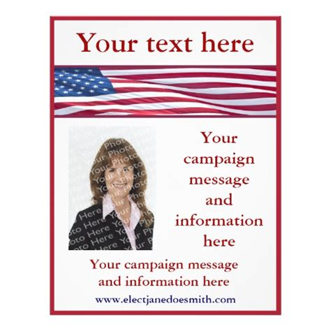 political flyer template free american flag election caign flyer template zazzle